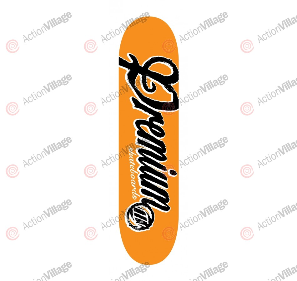 Premium Skateboards Scrawl Orange - 8.25 - Skateboard Deck