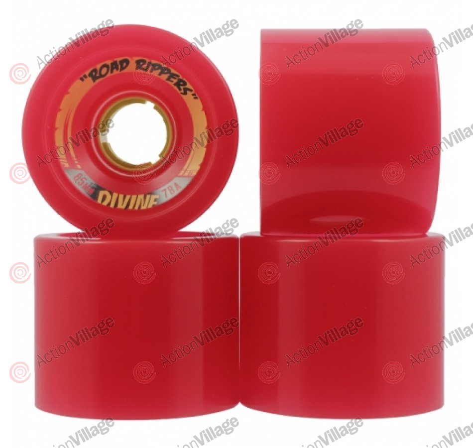Divine Road Rippers - Red - 65mm - Skateboard Wheels