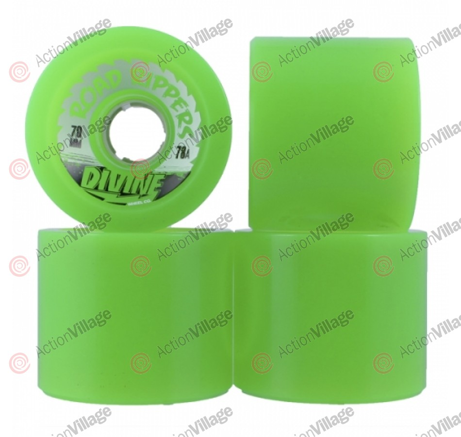 Divine Road Rippers Trans - Green - 70mm - Skateboard Wheels