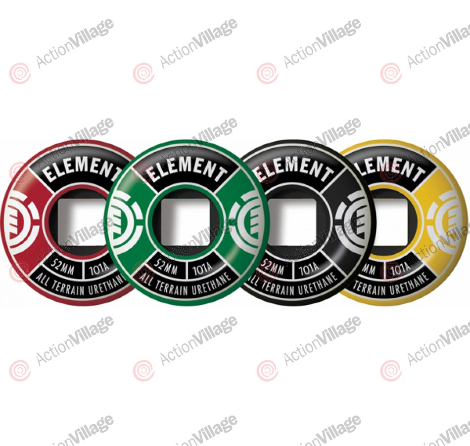 Element Divided 52mm - Rasta - Skateboard Wheels