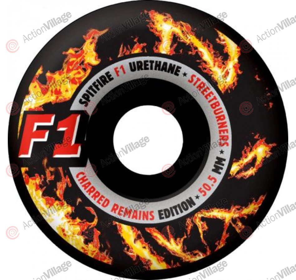 Spitfire Wheels F1 Streetburners Charred - 50.5mm - Skateboard Wheels
