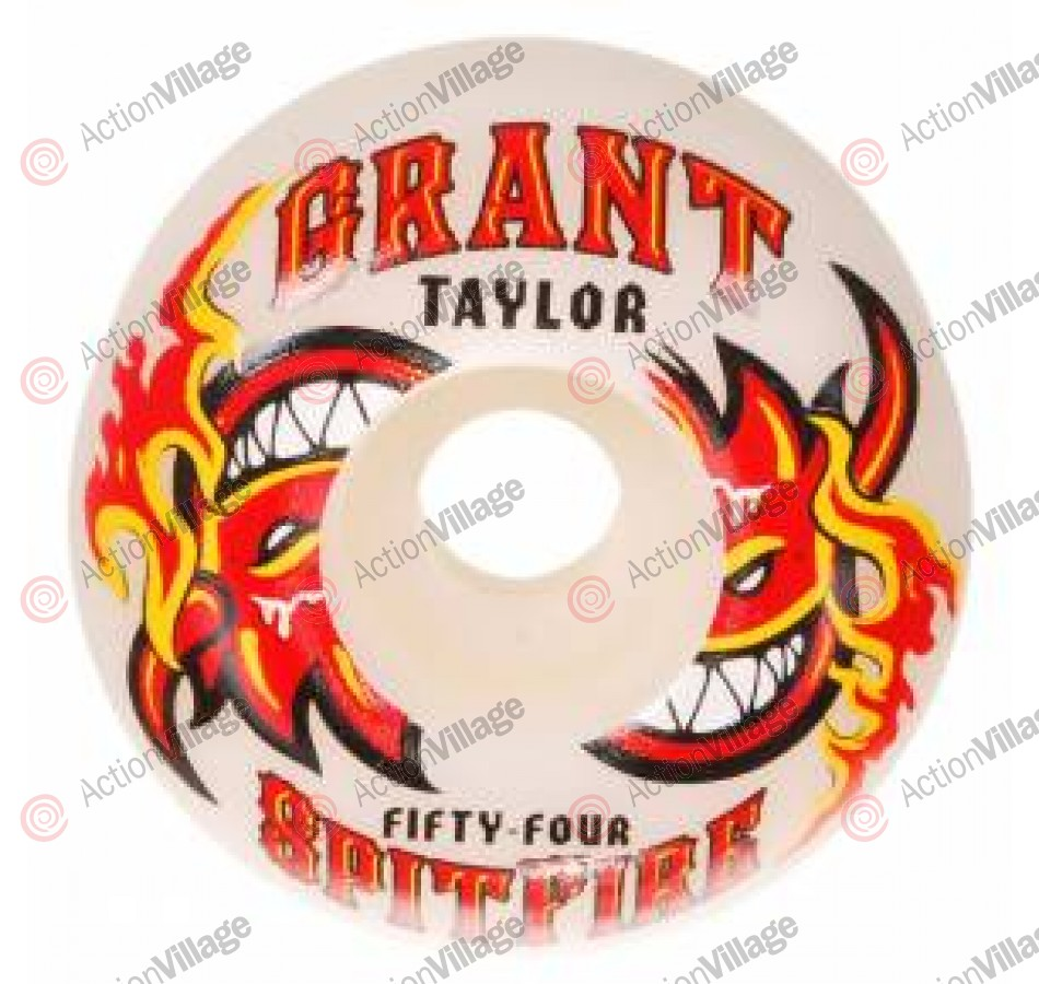 Spitfire Wheels Taylor Hot Sauce White - 53mm - Skateboard Wheels