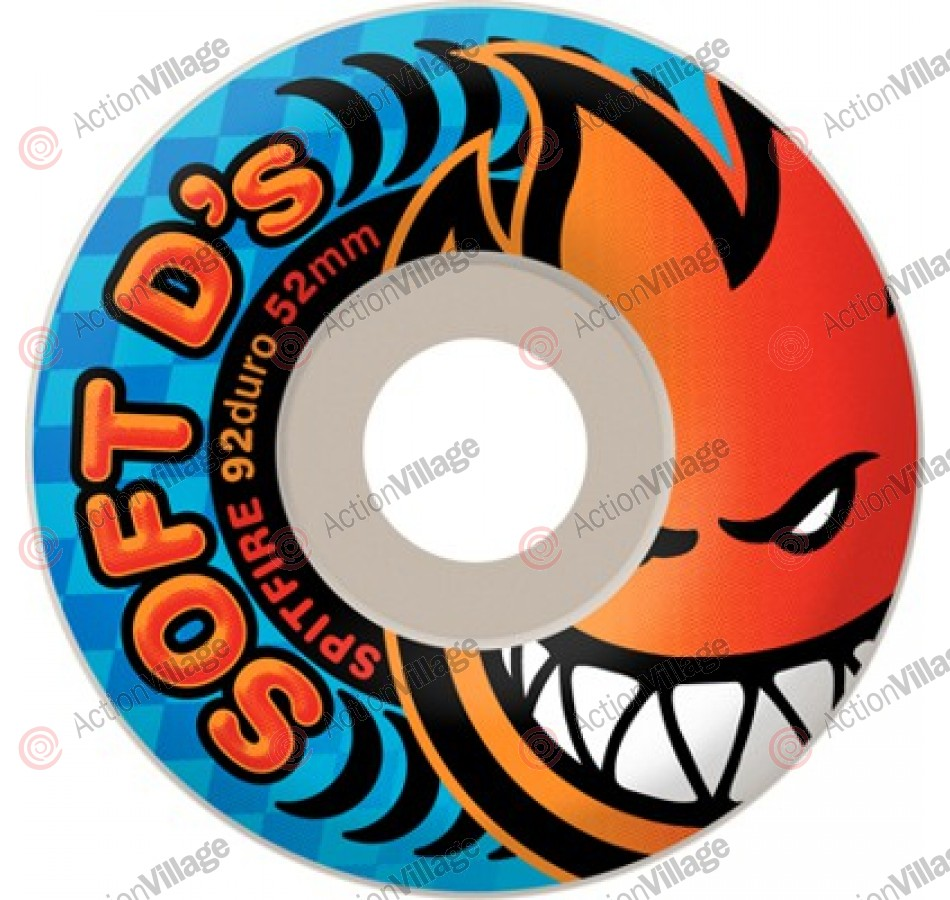 Spitfire Wheels Soft D's 92du White - 52mm - Skateboard Wheels