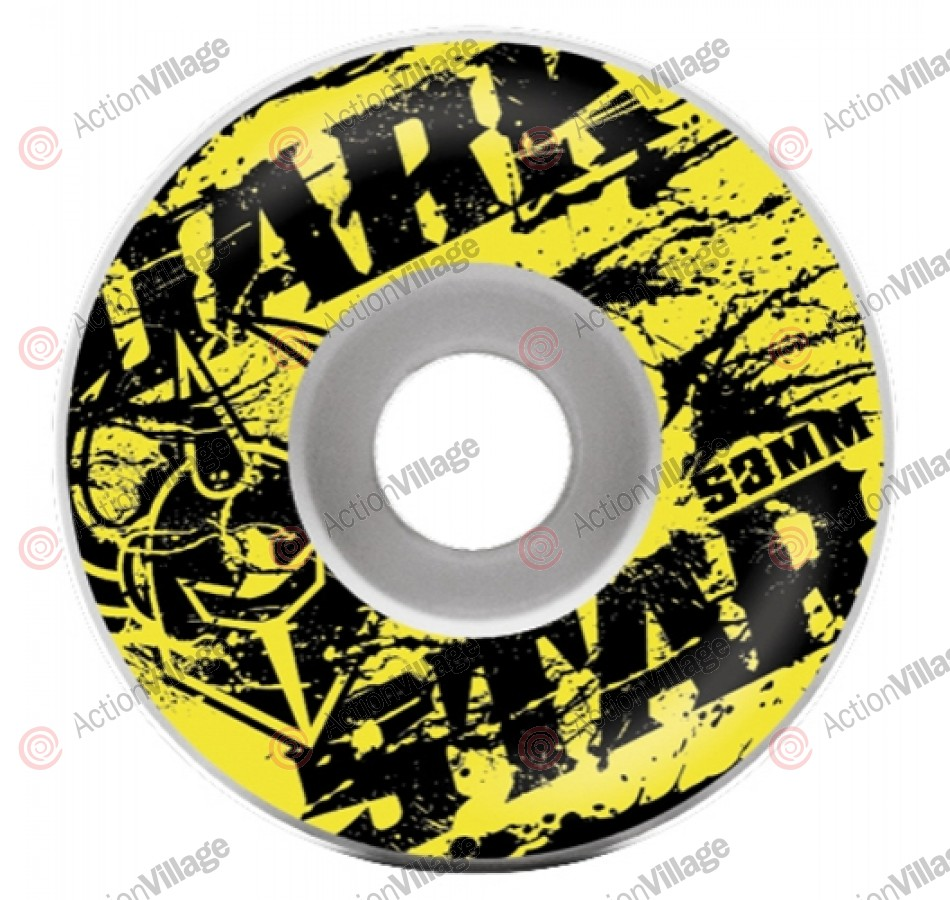 Darkstar Spatter Price Knight - Yellow/Black - 53mm - Skateboard Wheels