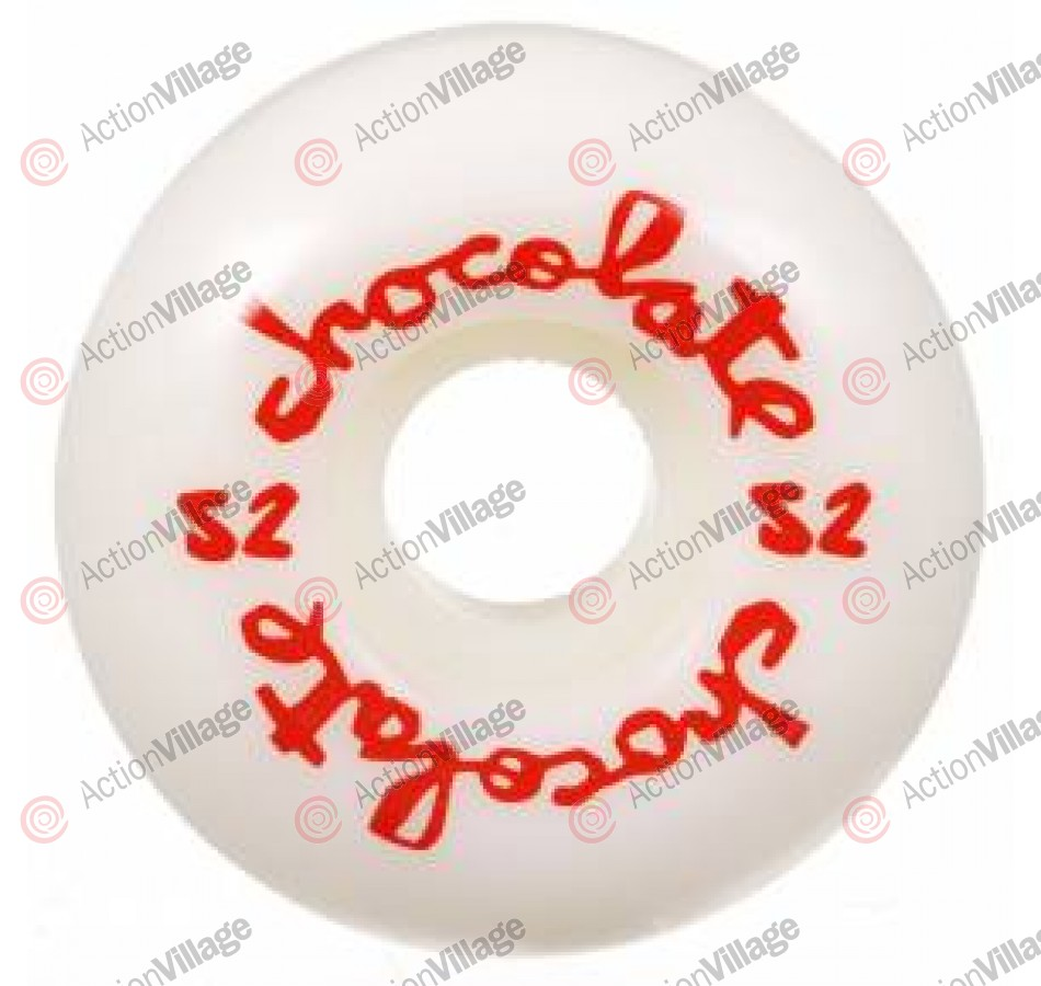 Chocolate Embossed 52mm - White - Skateboard Wheels
