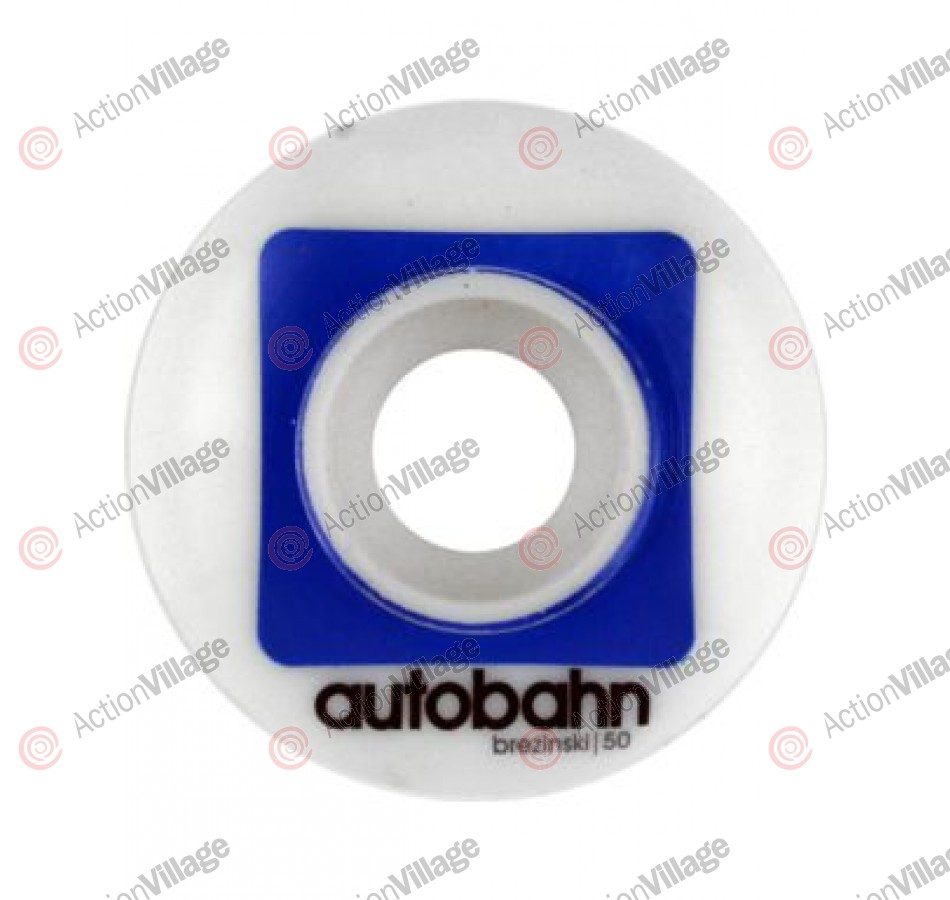 Autobahn Brezinski Pro Stock 50mm - White/Blue - Skateboard Wheels