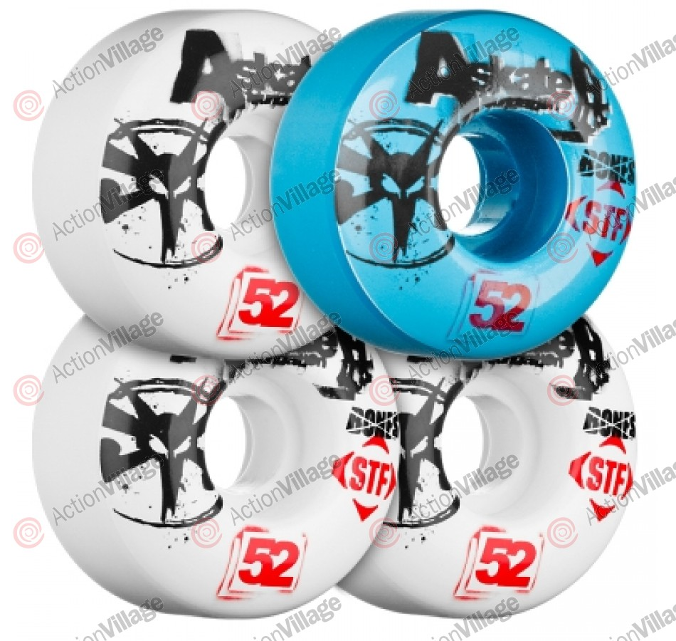 Bones Street Tech Formula A-Skate Benefit - 52mm - Blue/White - Skateboard Wheels