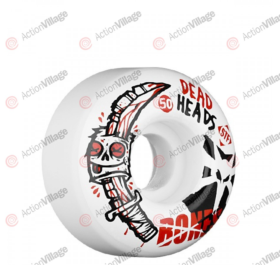 Bones Street Tech Formula Dead Head 2 - 50mm - White - Skateboard Wheels
