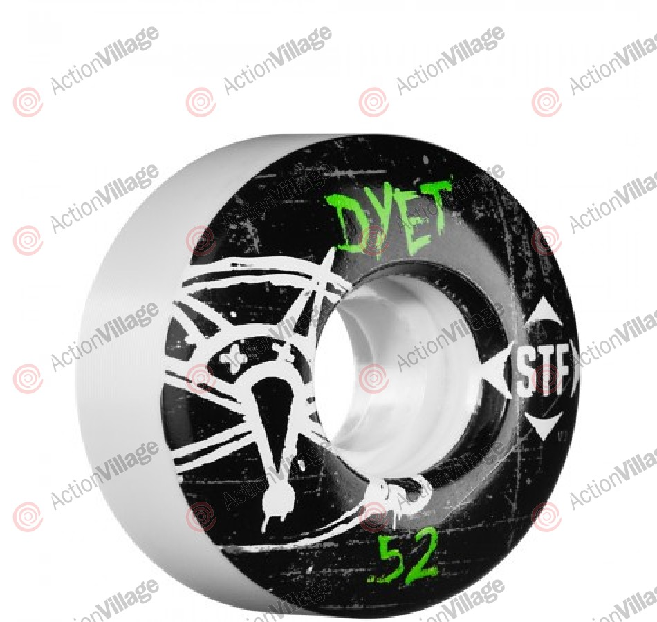 Bones Pro Team Dyet Oh Gee Street Tech Formula STF - White - 52mm - Skateboard Wheels
