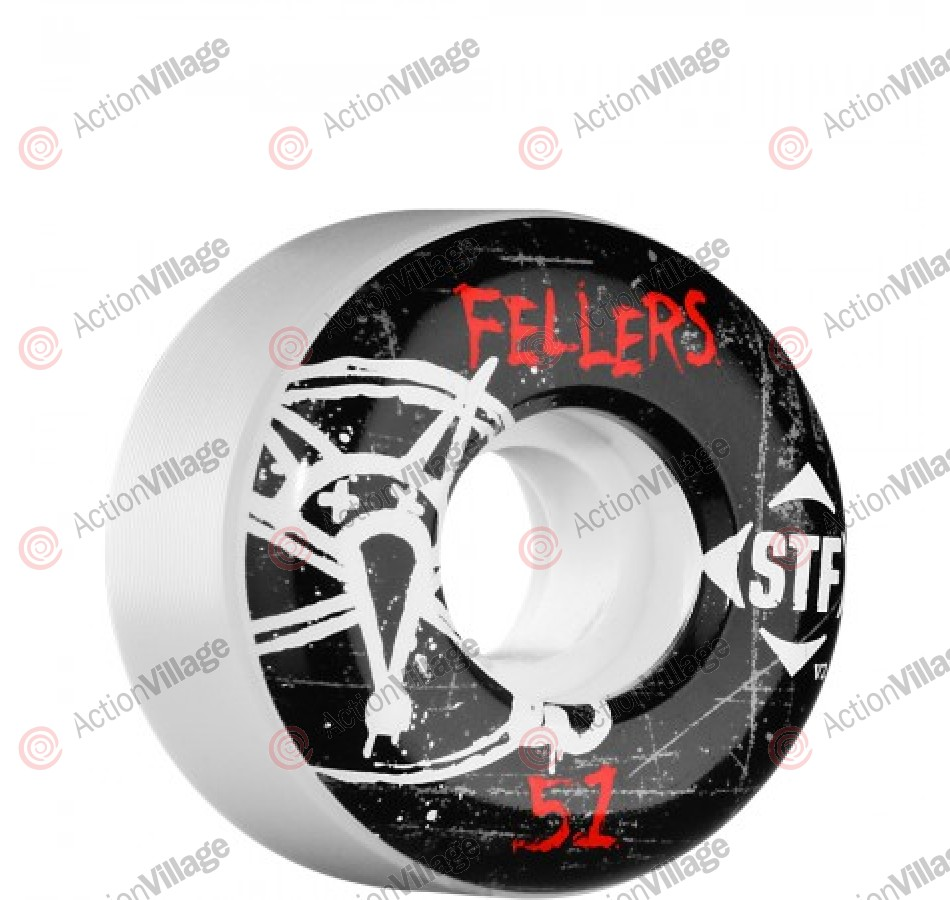 Bones Pro Team Fellers Oh Gee Street Tech Formula STF - White - 51mm - Skateboard Wheels