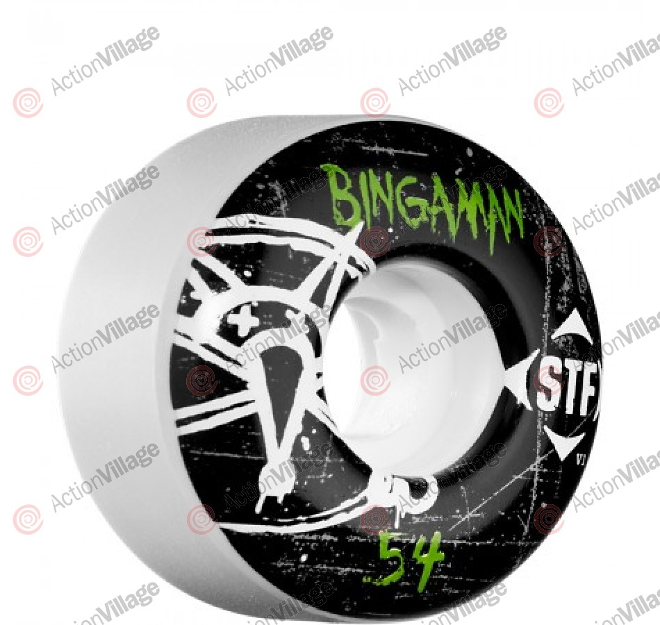 Bones Pro Team Bingaman Oh Gee Street Tech Formula STF - White - 54mm - Skateboard Wheels