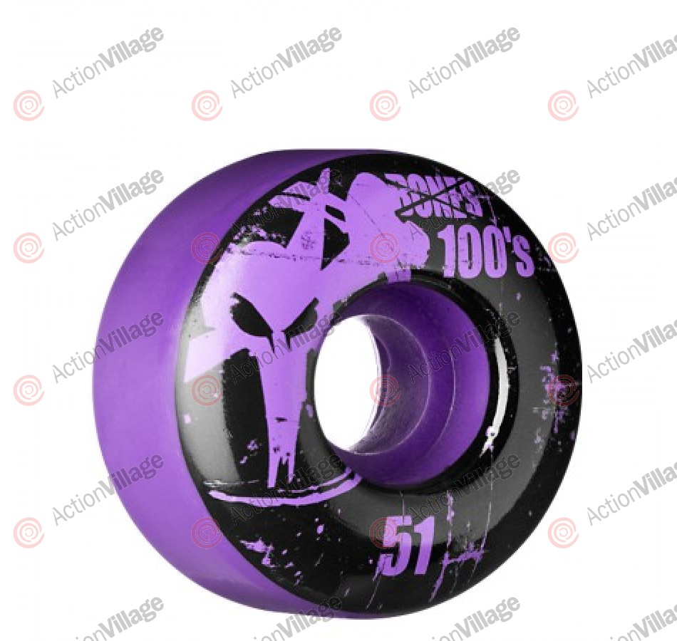 Bones O.G 100 SBA Slims - Purple - 51mm - Skateboard Wheels