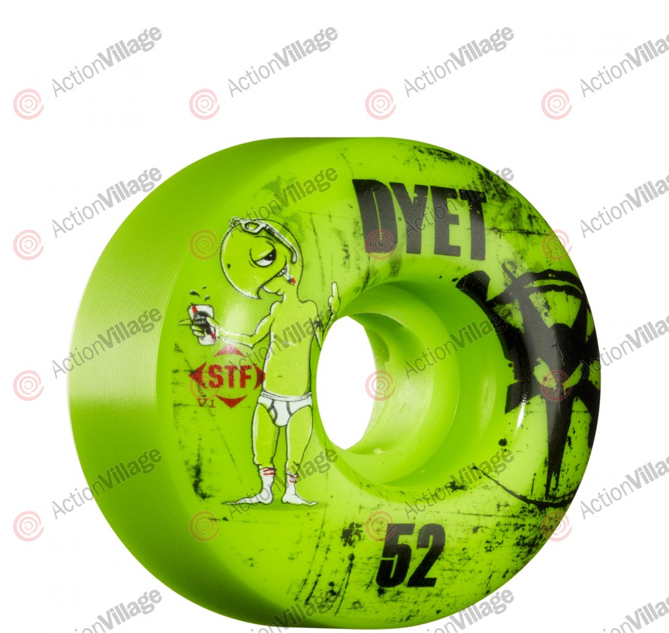 Bones STF Pro Dyet Whities - Green - 52mm - Skateboard Wheels