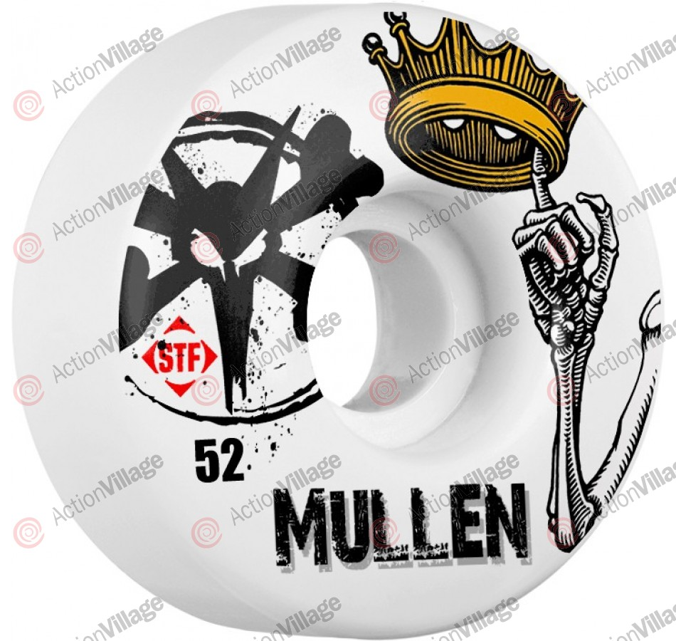 Bones STF Pro Mullen Crown - White - 52mm - Skateboard Wheels