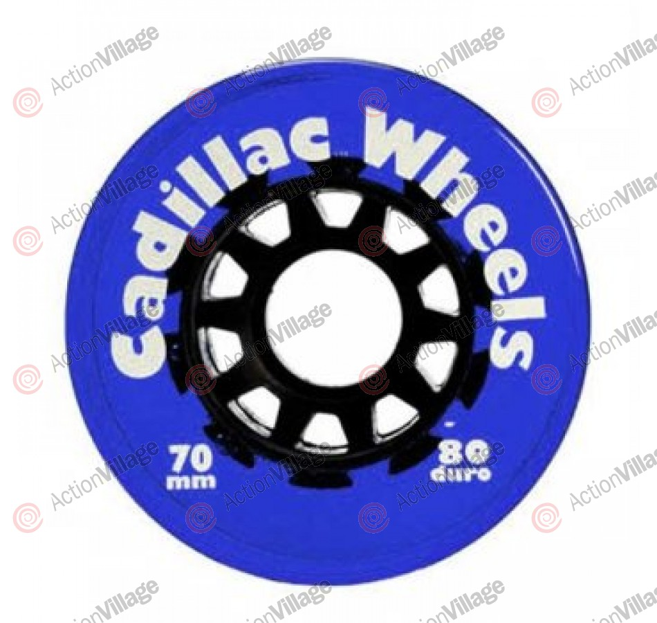 Cadillac Wheels, 70/80 Clear Blue, Set of 4 - Skateboard Wheels