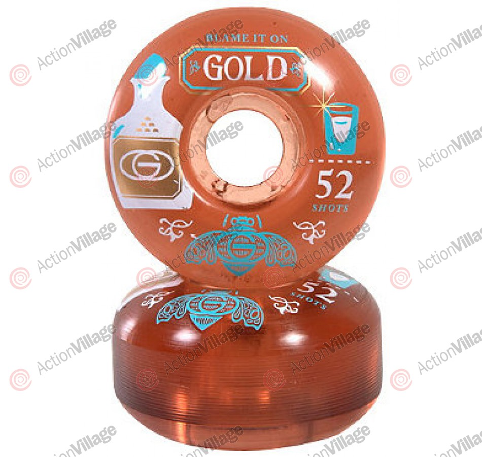 Gold Patron (Set of 4) - 52mm - Clear - Skateboard Wheels