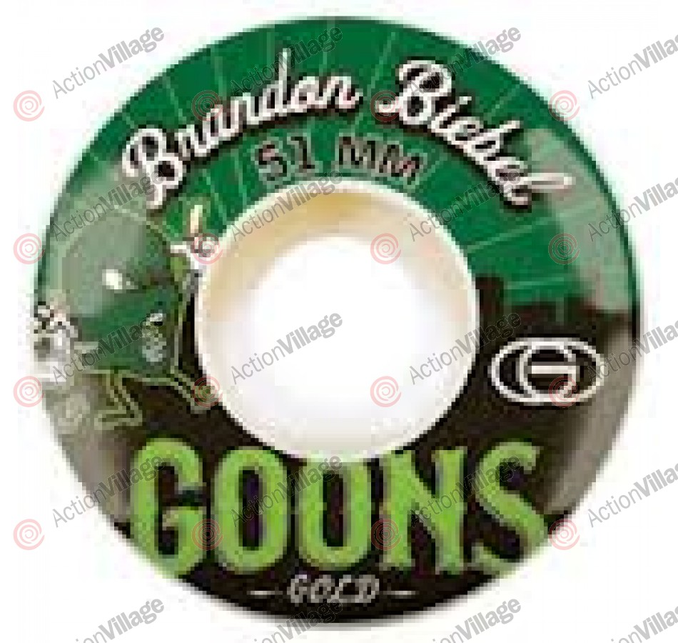 Gold Biebel Goons 51mm - White/Green - Skateboard Wheels