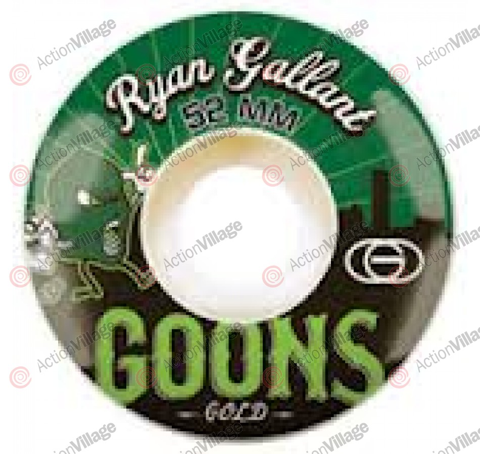 Gold Gallant Goons 52mm - White/Green - Skateboard Wheels