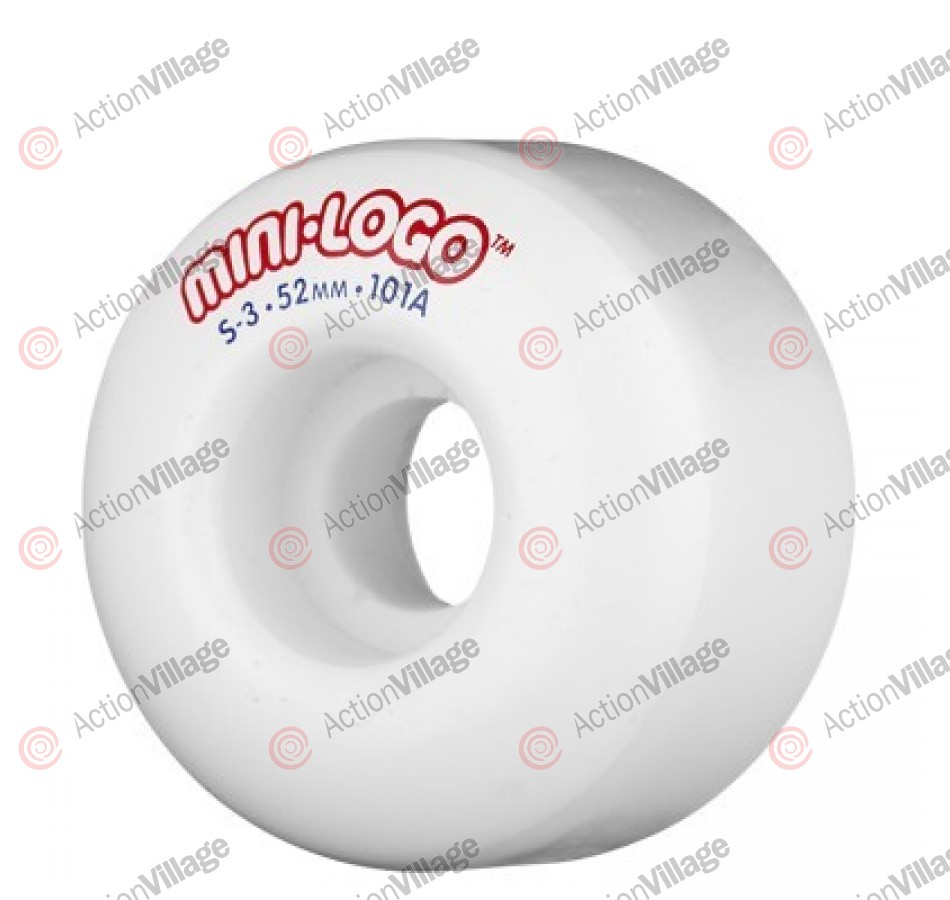 Mini Logo S3 - 53mm - 101 - White - Skateboard Wheels