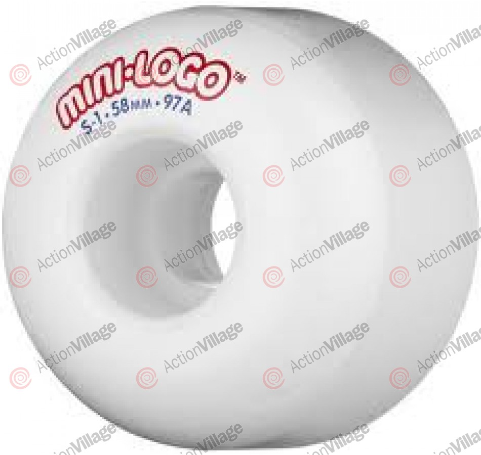 Mini Logo S1 Performance - White - 58mm - 97a - Skateboard Wheels