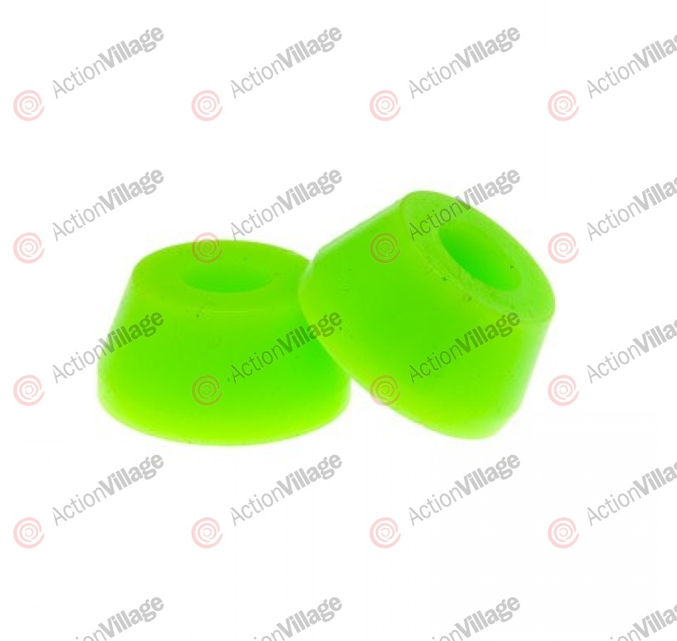 Reflex SHORT Conical Bushing - Lime - 80a - Skateboard Bushings
