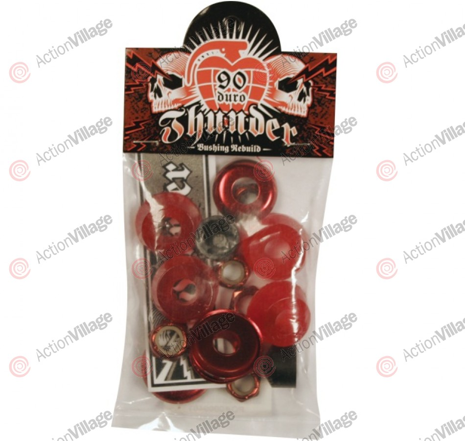 Thunder Rebuild Kit - Red - 90du - Skateboard Bushing Rebuild Kit