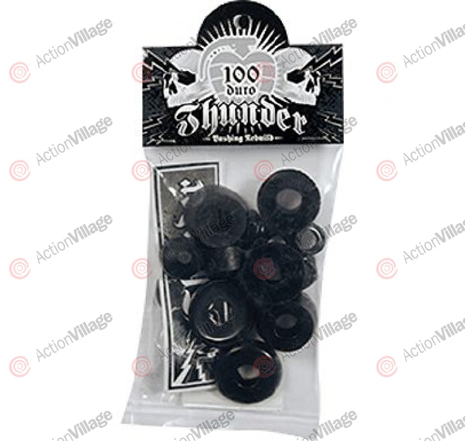 Thunder Rebuild Kit - Black - 100du - Skateboard Bushing Rebuild Kit