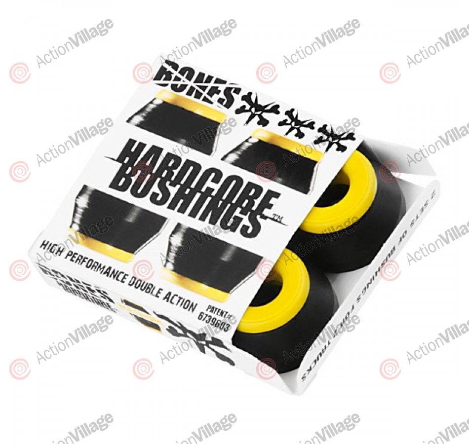 Bones Bushings Hardcore #2 - Medium - Black - Set of 4 - Skateboard Bushings