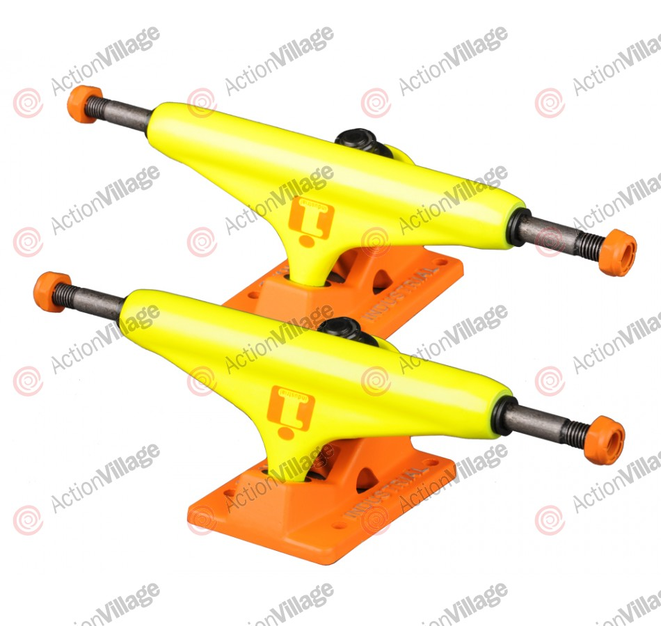 Industrial - Neon Yellow/Tangerine - 5.25 - Skateboard Trucks
