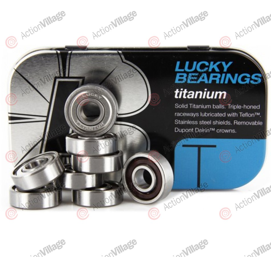 Lucky's Bearings Titanium - Skateboard Bearings