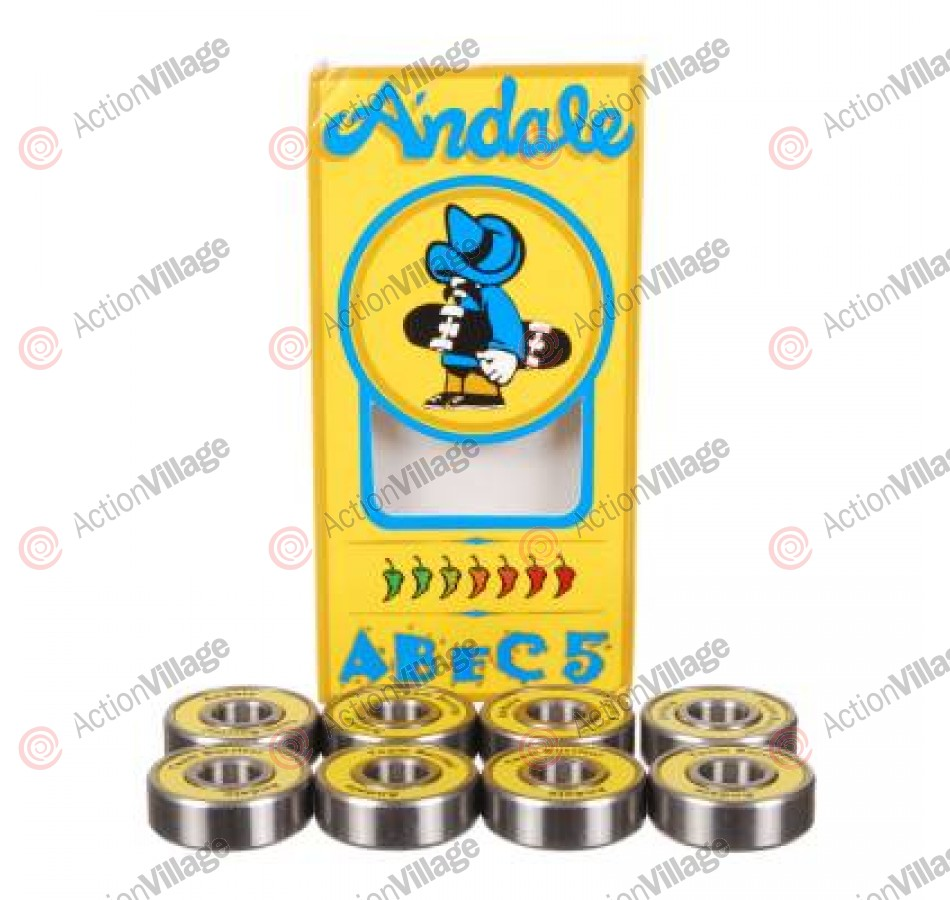 Andale Abec 5 Bearing Set - Skateboard Bearings