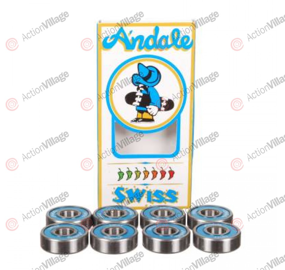 Andale Swiss Bearing Set - Skateboard Bearings