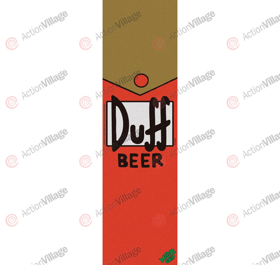 Mob Simpsons Duff Beer Grip Tape 9in x 33in  - 1 Sheet - Skateboard Griptape