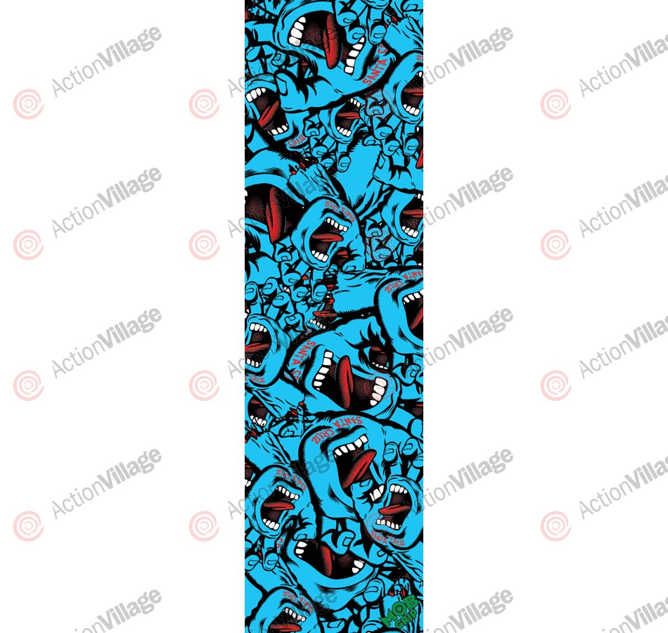Mob Santa Cruz Screaming Hand Collage Grip Tape 9in x 33in  - 1 Sheet - Skateboard Griptape