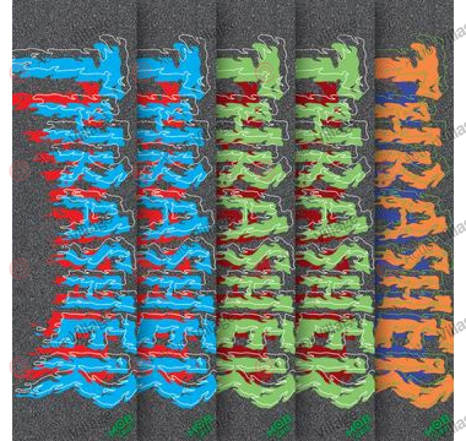 Mob Thrasher Drip Assorted Grip Tape 9in x 33in  - 1 Sheet - Skateboard Griptape - Assorted Colors
