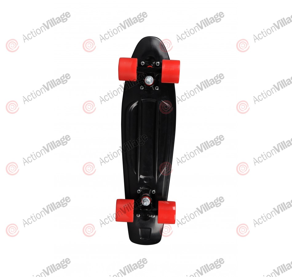 Rock On Mini Cruzer Black w/Red Wheels - Complete Skateboard