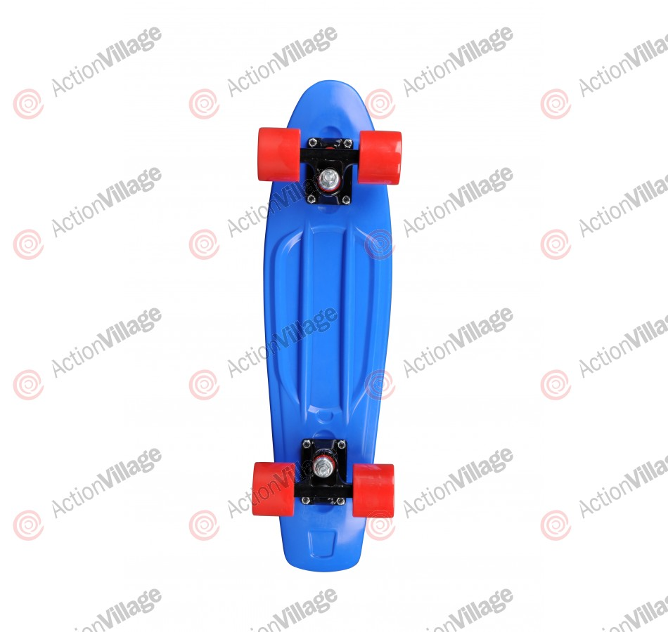 Rock On Mini Cruzer Blue w/Red Wheels - Complete Skateboard