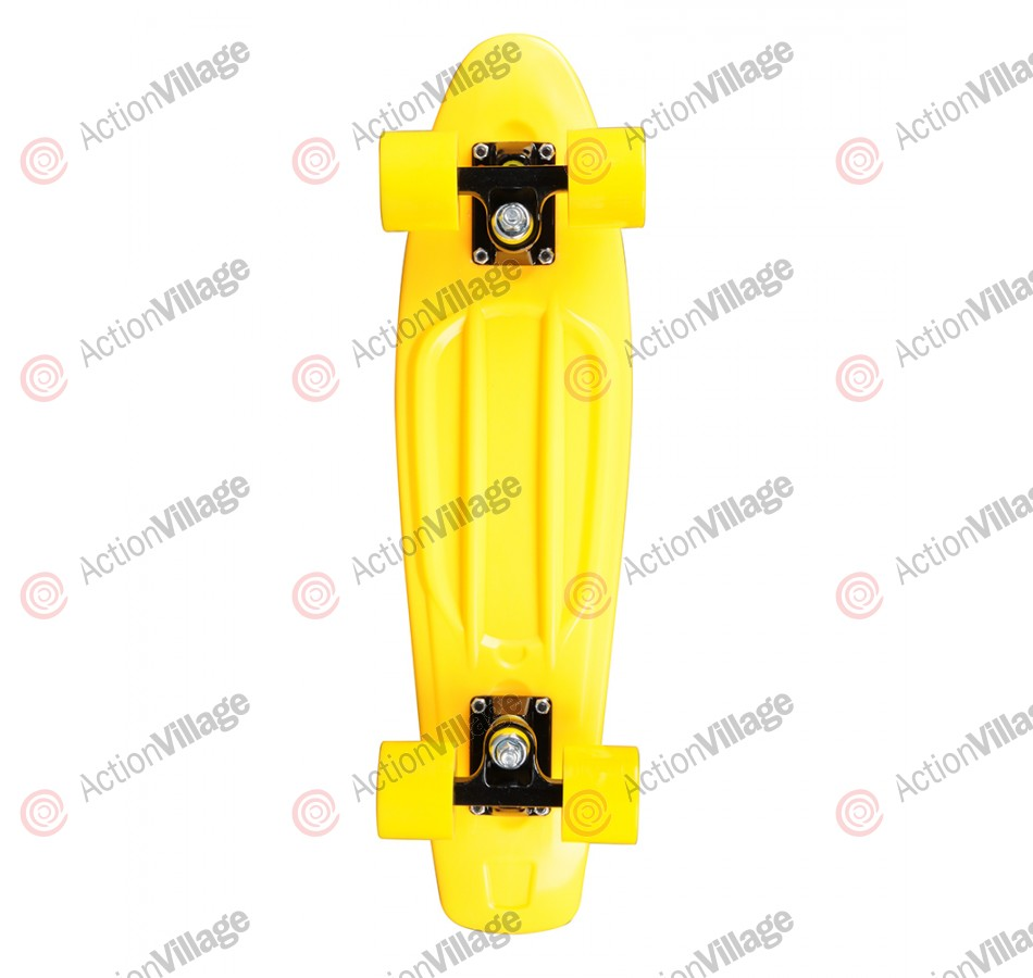 Rock On Mini Cruzer Yellow w/ Yellow Wheels - Complete Skateboard