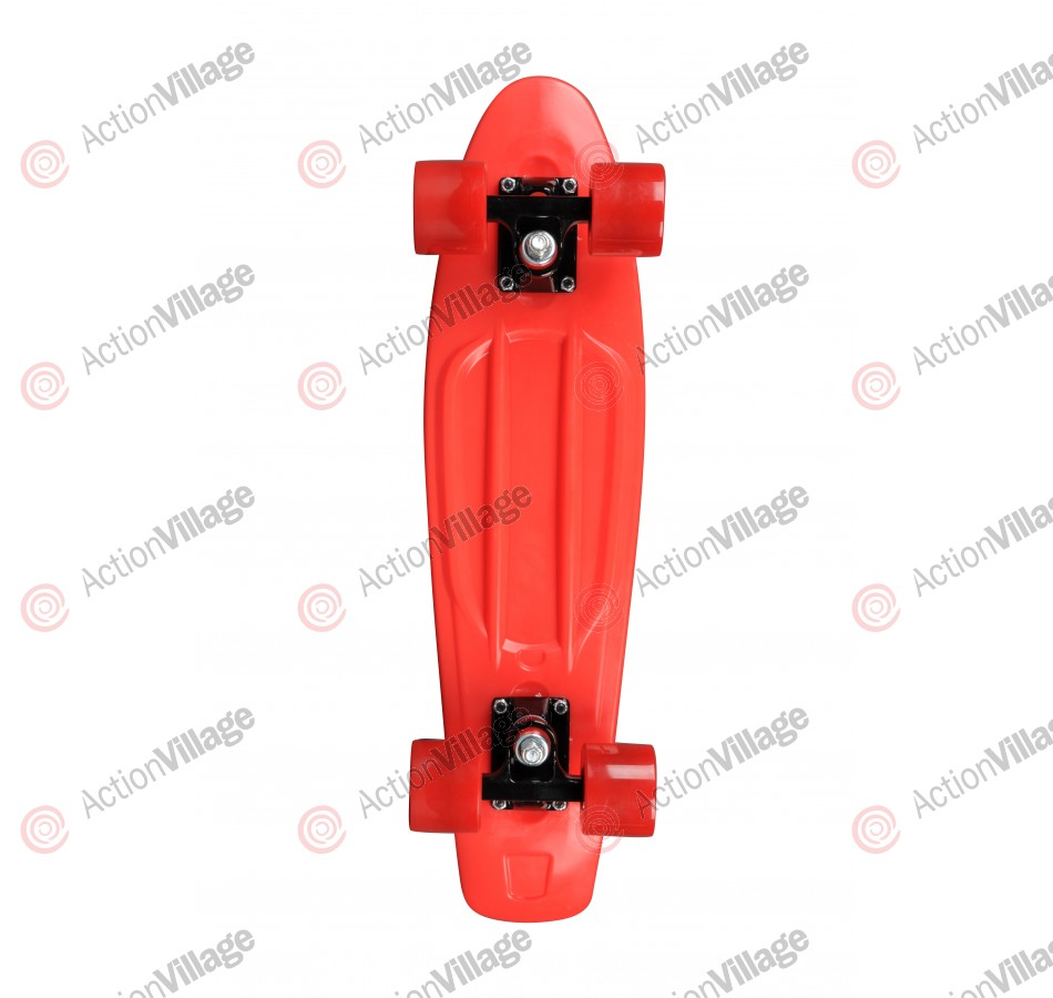 Rock On Mini Cruzer Red w/ Red Wheels - Complete Skateboard
