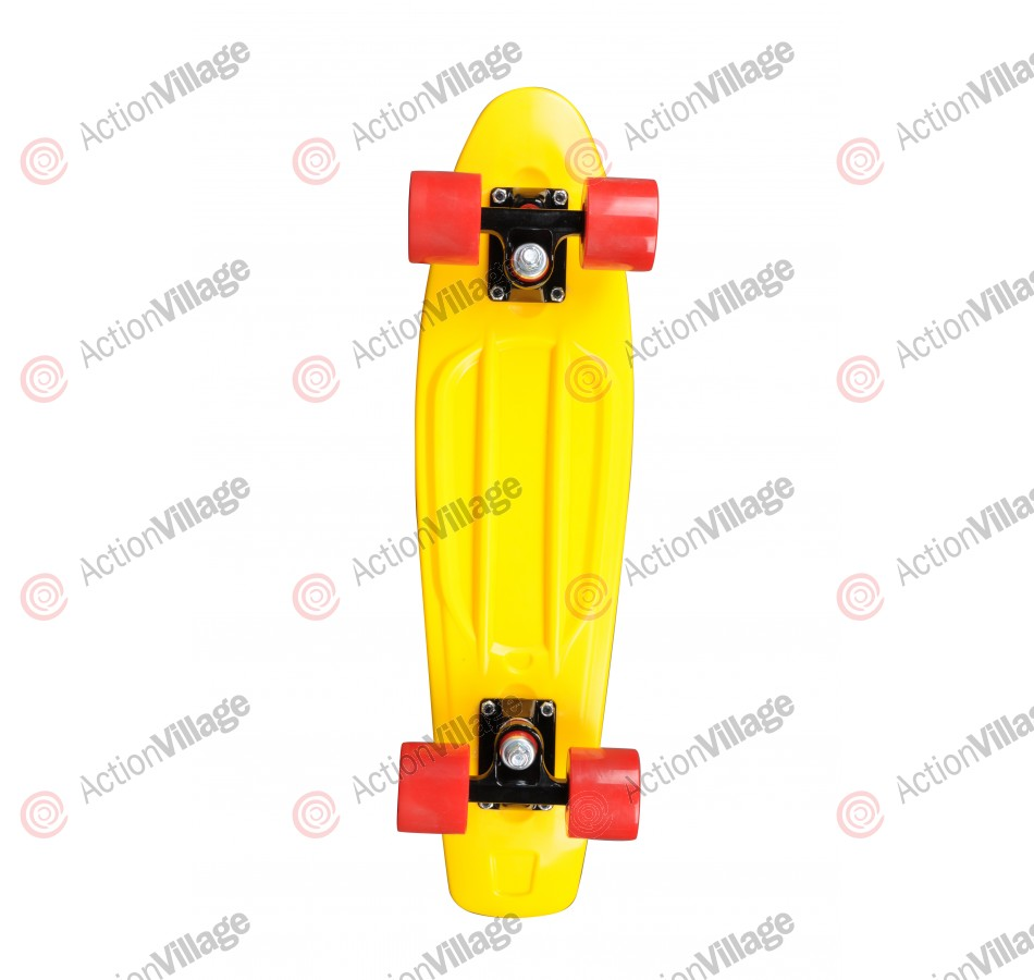 Rock On Mini Cruzer Yellow w/Red Wheels - Complete Skateboard