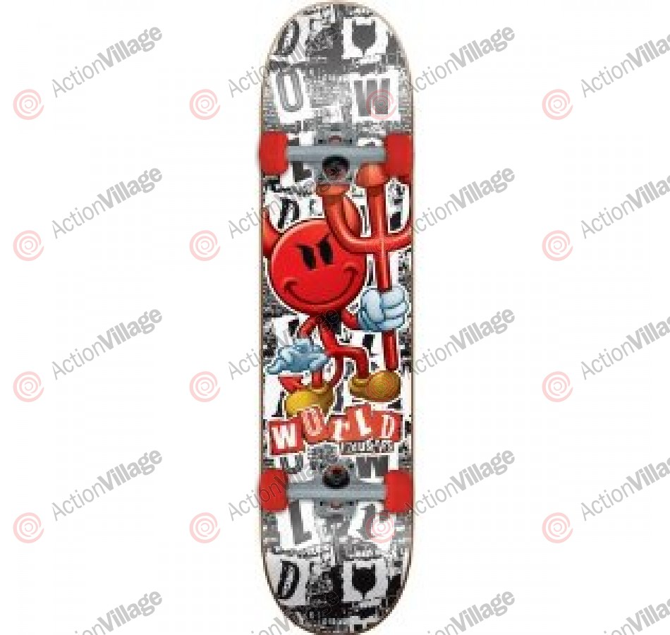World Industries Ransom Devilman - Black/White - 7.75 - Complete Skateboard