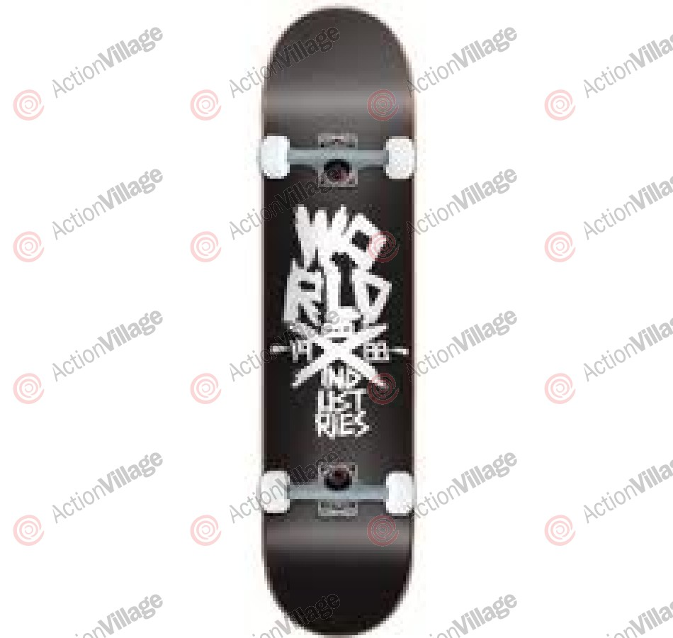 World Industries Skate Edge - Black - 7.6 - Complete Skateboard