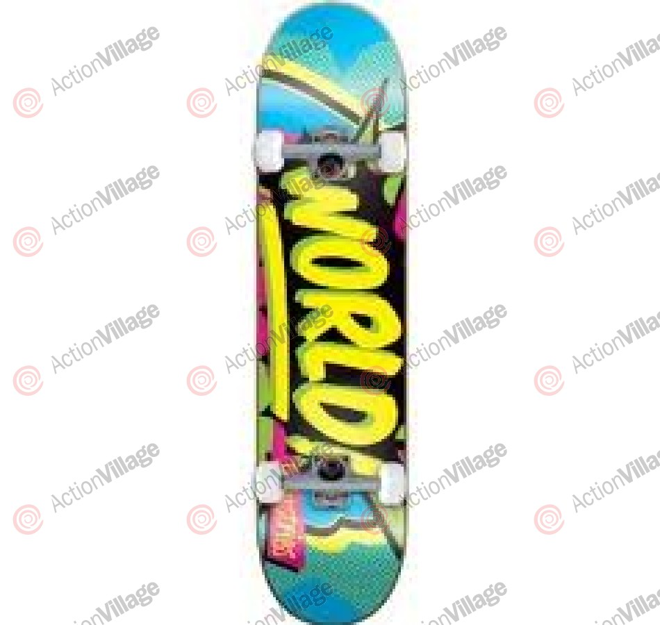 World Industries Ka Pow Mid - Blue - 7.37 - Complete Skateboard