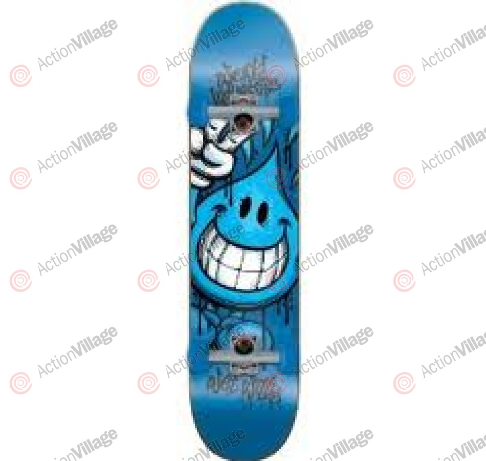 World Industries Raw Wet Willy Mid - Blue - 7.3 - Complete Skateboard