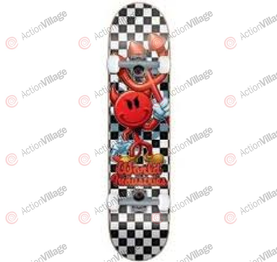 World Industries Checker Devilman Mini - Black/White - 7.12 - Complete Skateboard