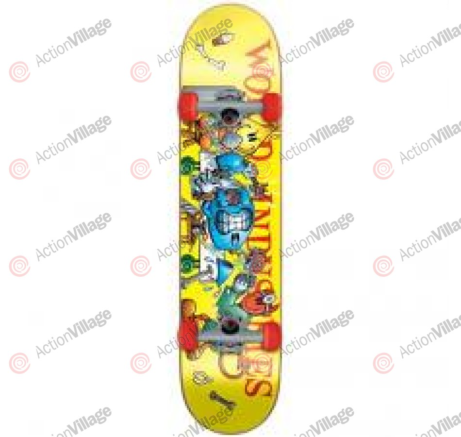 World Industries Slice N Dice Mini - Yellow - 7 - Complete Skateboard