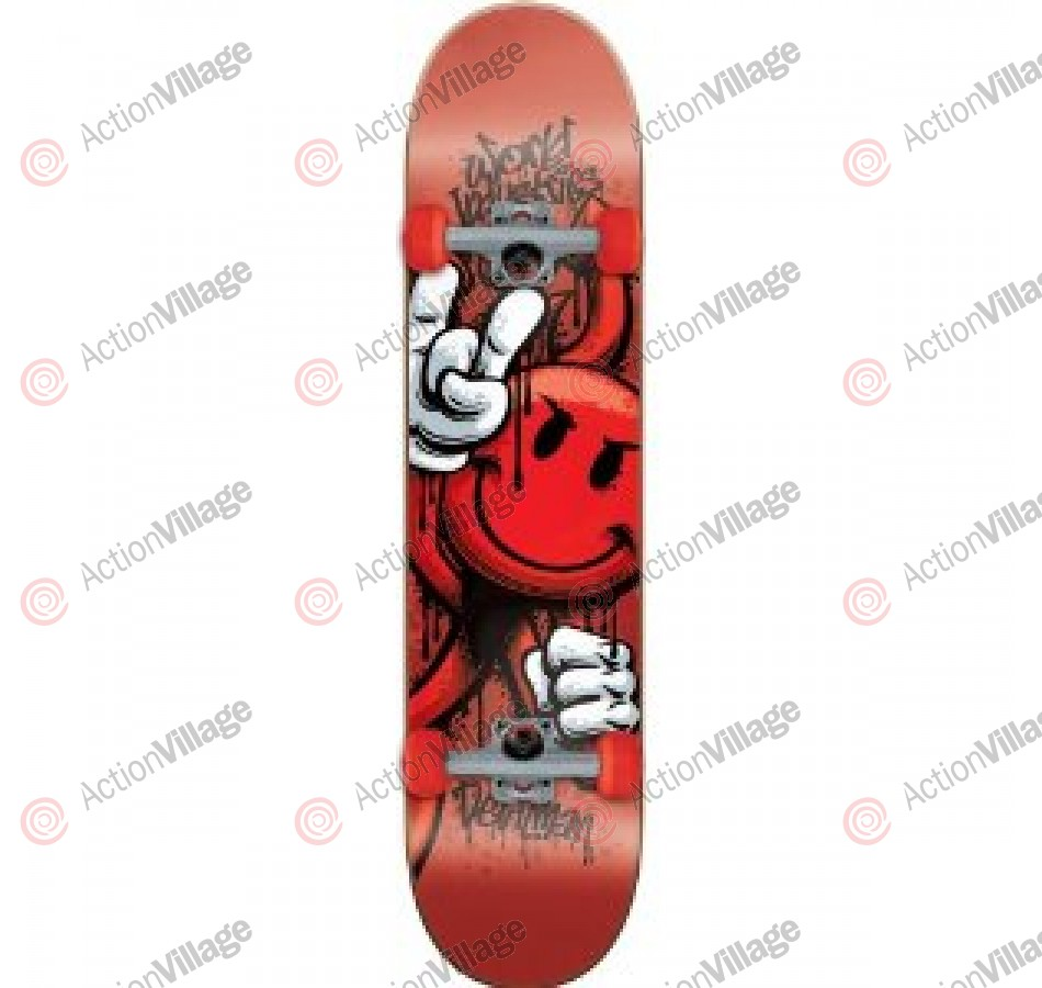 World Industries Raw Devilman Mini - Red - 7.12 - Complete Skateboard