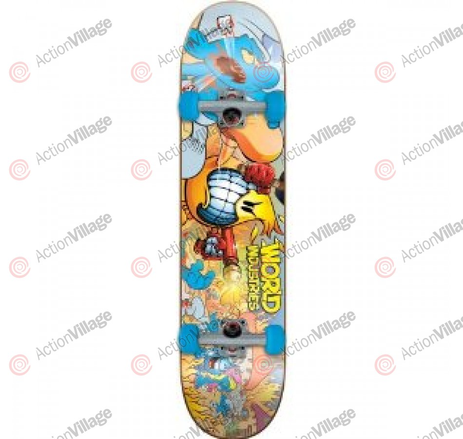World Industries Blue Massacre Mini - Yellow - 7.12 - Complete Skateboard