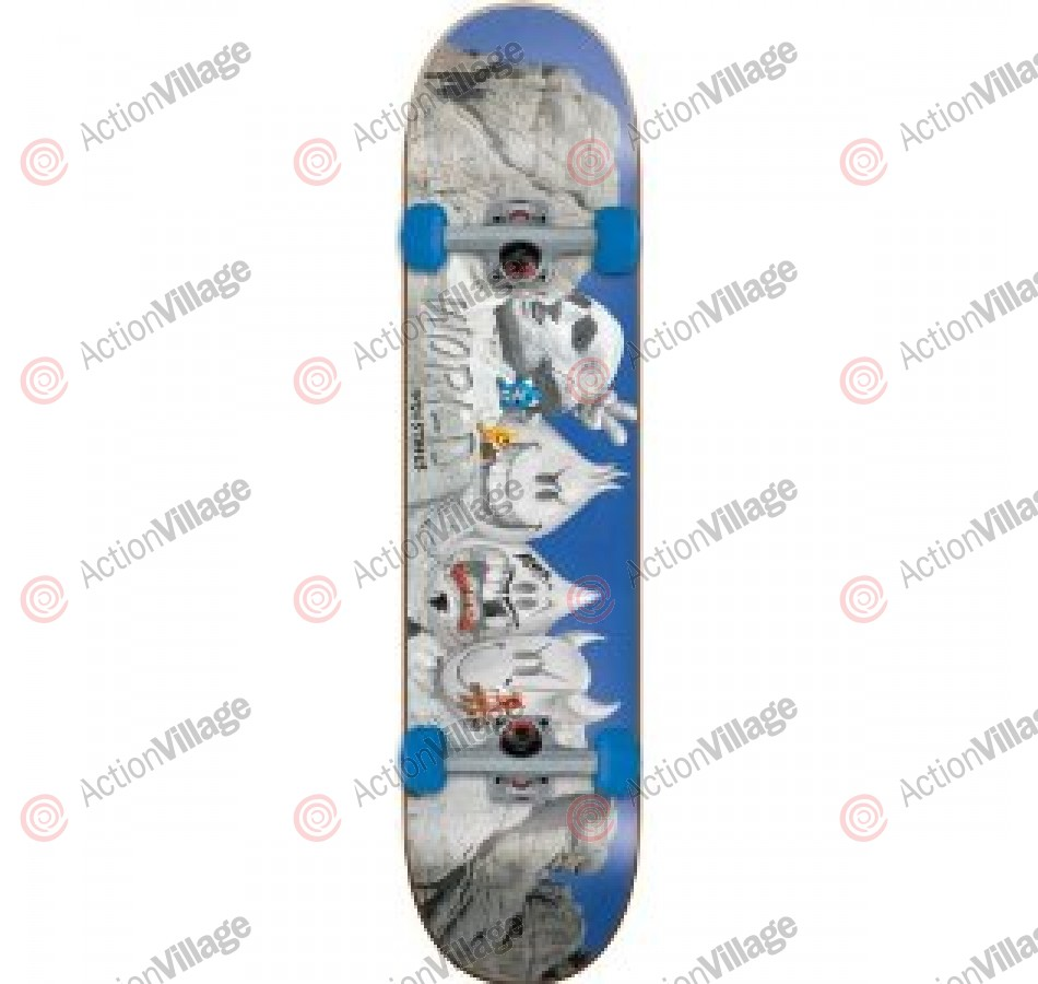 World Industries Mt Rushmore Mini - Blue/Grey - 7 - Complete Skateboard