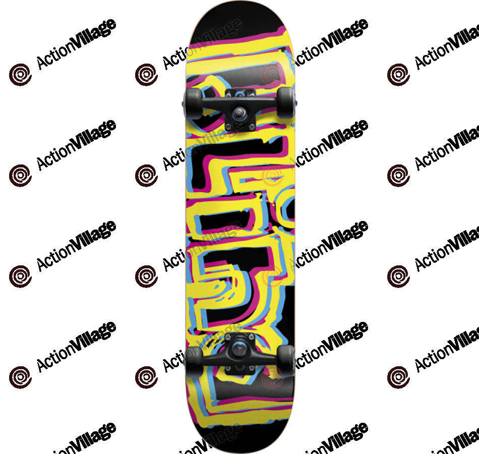 Blind Offset OG - Black/Yellow - 8.0 - Complete Skateboard